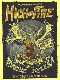High On Fire | Kylesa | Torche - Gigposter on Behance