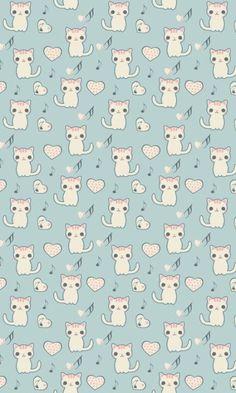 kawaii cat wallpaper - Cerca con Google