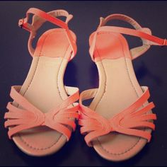 New! Bright Coral Sandals! Beautiful! Fletcher by Lyell! Never worn. No trades or PayPal. Happy poshing! Urban Outfitters Shoes Sandals