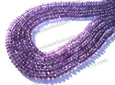 Amethyst African Faceted Roundel Quality A / by GemstoneWholesaler