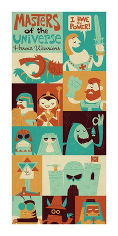 Heroic Warriors by Dave Perillo, via Behance