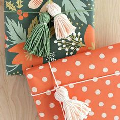 Easy to make DIY Yarn Tassel for gift packaging