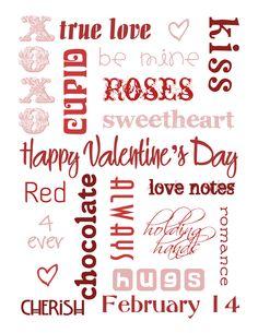 Valentine #printable