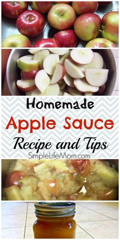 Make your own applesauce in an easy step by step process with pictures. No gadgets needed, just a pot and a knife. Add cinnamon and sugar at your choice.: