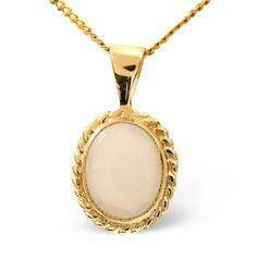 Opal 9 x 7mm 9K Yellow Gold Pendant. #thediamondstoreuk #opal #birthstone #jewellery #october
