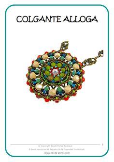 E-BOOK / MINTA / PATTERN / ESQUEMA / SCHEME / TUTORIAL Descarga gratuita / Free download: http://www.beads-perles.com/