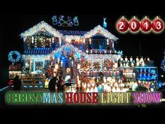 Christmas House Light Show 2013 [Best christmas outdoor decorations in New York] AMAZING! - YouTube