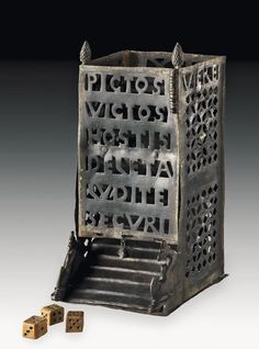 An ancient Roman century AD Dice Tower. In Latin it commemorates a military defeat of the Picts. So enjoy a pic if a dice tower about the defeat of the Picts Roman Artifacts, Historical Artifacts, Ancient Artifacts, Ancient Rome, Ancient History, European History, Ancient Aliens, Ancient Greece, American History
