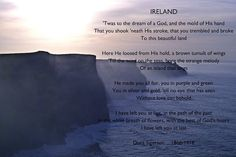 The Cliffs of Moher ... 'Ireland' poem by Irish poet Dora Sigerson (on emigrating from Ireland to England)