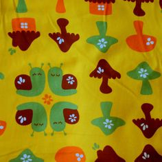 Snail Forest Organic Cotton Lycra Knit Fabric by Mussukat - Euro Knit - Sold by the Half Yard