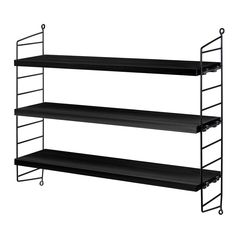 Introduced in the String shelf system is regarded as a design icon and still looks as modern today as it did over 60 years ago. Each String Pocket shelf system contains 2 side panels and 3 shelves and is perfect for CDs, DVDs and paperbacks. String Pocket, Pocket Sand, Shelf System, Shelving Systems, Storage Shelving, Shop Shelving, Modular Shelving, Storage Organization, String Regal