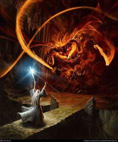 """""""No puedes pasar. Soy un servidor del Fuego Secreto, que es dueño de la llama de Anor. No puedes pasar. El fuego oscuro no te servirá de nada, llam a de Udûn. ¡Vuelve a la Sombra! No puedes pasar""""."""