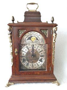 On eBay this stunning huge Dutch Warmink 16.5 Inch Westminster Quarter Chime Bracket Clock Moon Dial 1972