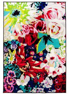 Blossom on näyttävä ja värikäs kukallinen matto Cabin Fever, Carpet, Interior, Painting, Inspiration, Living Rooms, Home, Design, Search