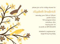 Bird shower invite