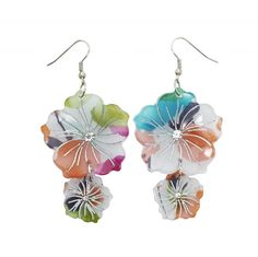 Pretty multicoloured earrings with detailed acrylic flowers. Look out for our matching bracelet!