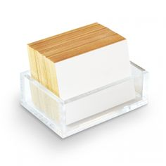 Quips+Queries.  Acrylic box with 100 delightful cards to catch all your thoughts.  http://russellandhazel.com
