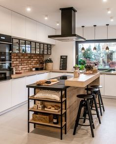 Kitchen Room Design, Modern Kitchen Design, Home Decor Kitchen, Interior Design Kitchen, Kitchen Living, New Kitchen, Home Kitchens, Small Modern Kitchens, Kitchen Small
