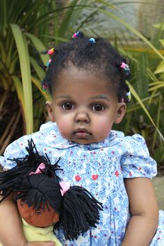 Reborn AA Ethnic Black Toddler Doll By Katie Messou Sculpt Tibby by Donna Rubert in Dolls & Bears, Dolls, Clothing & Accessories, Artist & Handmade Dolls | eBay