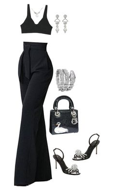 """Untitled #4359"" by mollface ❤ liked on Polyvore featuring Christian Dior, Giuseppe Zanotti and Bulgari"