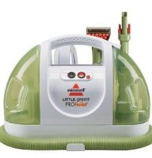 Portable Steam Cleaner - #LoveYourRV Since we travel with a dog full time the carpet areas in the rig get quite dirty. I found a great solution was a portable stream cleaner. They are designed for stairs and spot cleaning but since the RV area is so small it's perfect and does a great job.  http://loveyourrv.com/portable-steam-cleaner/