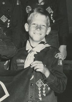 Impressive Americans: a young Bill Gates in his Boy Scout uniform. #billgates #boyscouts