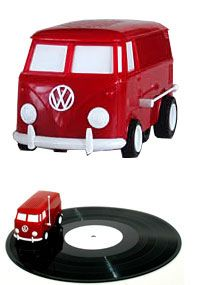 Sound Wagon: the little Volkswagen Bus drives on your records, playing music... gorgeous!