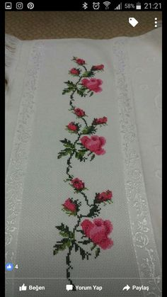 This Pin was discovered by Ays Just Cross Stitch, Cross Stitch Borders, Cross Stitch Patterns, Hand Embroidery Videos, Free To Use Images, Bargello, Pansies, Needlepoint, Needlework