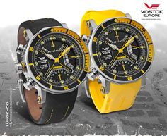 Vostok-Europe Lunokhod 2 Chronograph Multi-Function Dive Watch Yellow Accents TM3603/6205206