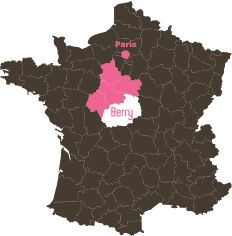 Carte de france - Localisation du berry