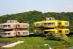 Sanzhi UFO houses New Taipei City, Taiwan 252