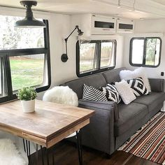My own RV layout is similar to this one so Im getting a lot of personal inspiration from these photos by mrselliluu including her recently painted gray kitchen cabinets which youll have to go to her page to seerv motorhome motorhomes camper campers rvlife rvliving fulltimervlife fulltimervlifestyle fulltimervliving fulltimerv fulltimerver fulltimervers homeiswhereyouparkit camperlife fifthwheel fulltime digitalnomads gorving homeonwheels adventuremobile rvrenovation rvmakeover