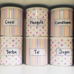 Upcycle Tin Cans Recycle Cans, Diy Recycle, Tin Can Crafts, Diy And Crafts, Formula Can Crafts, Washi Tape Diy, Recycled Crafts, Craft Storage, Fun Projects