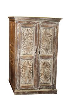RESERVED Eclectic Coolest Vintage Cabinet Upcycled Originals Chakra Carving Storage Home Decor Bohemian Design, Bohemian Decor, Room Divider Headboard, Indian Doors, Antique Armoire, Sun Designs, Wooden Cabinets, Cabinet Furniture, Wood Pieces