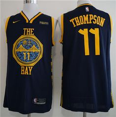 Golden State  Warriors 11 Klay Thompson Navy 2018-19  City Edition Nike 0156ecb41