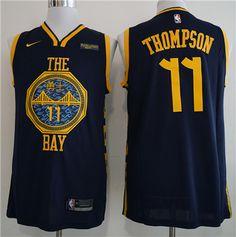 80156f12b  Golden State  Warriors 11 Klay Thompson Navy 2018-19  City Edition Nike