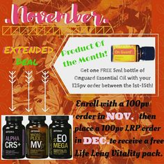 Monthly deals!!! Ask me about taking advantage of Novembers deals and getting a free incentive from me!