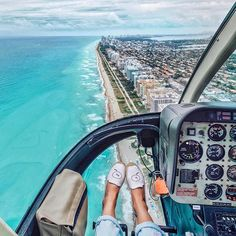 I will never get over the awesome feeling of a helicopter ride.  Especially after looking back on this memorable flight from last month with @conradhotels. Flying over Miami's iconic South Beach was one of my favourite moments from the trip. To discover more about my Miami visit click the link in my bio! #Conrad135 #ad