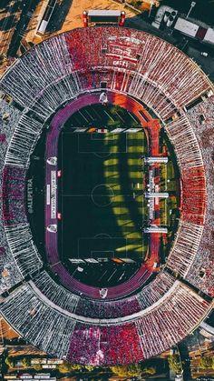 Argentina, Estádio Monumental Antonio Vespucio Liberti (Monumental de Núñez), Club Atlético River Plate. Soccer Stadium, Football Stadiums, Argentina Travel, Lionel Messi, Neymar, Aerial View, City Photo, Plates, Fc Barcelona