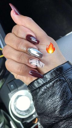 Chrome polish. Marble nails. Are you looking for autumn fall nail colors design for this autumn? See our collection full of cute autumn fall nail matte colors design ideas and get inspired!