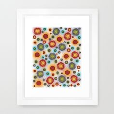 Colorful Floral Abstract Framed Art Print