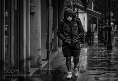 Walking the Rain Venice Street
