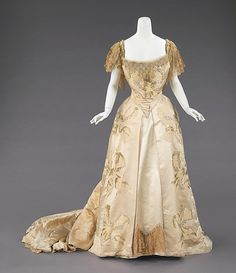 Ball gown Design House: House of Worth  Designer: Jean-Philippe Worth Date: 1903 Culture: French Medium: silk, rhinestones Accession Number: 2009.300.623a, b