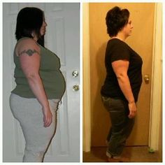 """Heather writes   """"Updated photos of me. Started in Feb and now down 36 lbs and 47 inches. Love these products."""""""