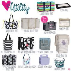 Utility by Thirty-One. Fall/Winter 2016. Click to order. Join my VIP Facebook Page at https://www.facebook.com/groups/1603655576518592/