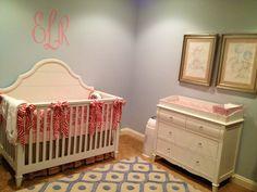 Pink and blue nursery
