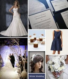 Pretty by Pistachio: Inspiration Board :: Winter Wedding