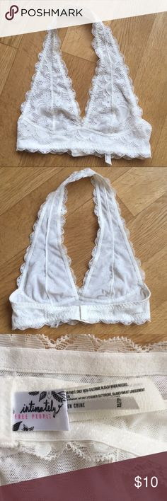 2b81c9b247 Free People White Galloon Lace Halter Bralette XS Free People White Galloon  Lace Halter Bralette size