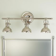 Pullman Bath Light - 3 Light (2 Finishes!)  Jen-these could mount from ceiling. Would this work?