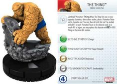 The Thing #011 Marvel 10th Anniversary Heroclix Singles